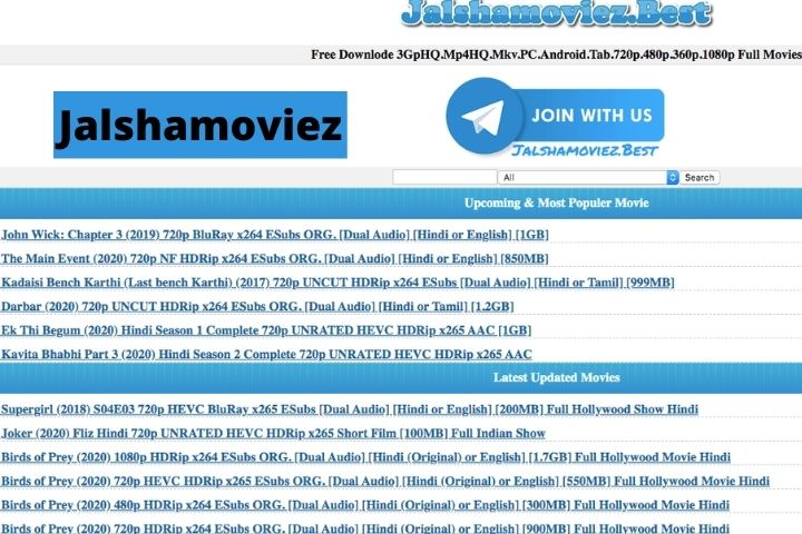 Jalshamoviez (2021) - Download Latest Bollywood, Hollywood And Regional Movies For Free [UPDATED]